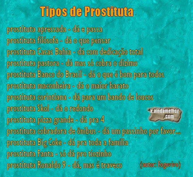 tipos de prostituta
