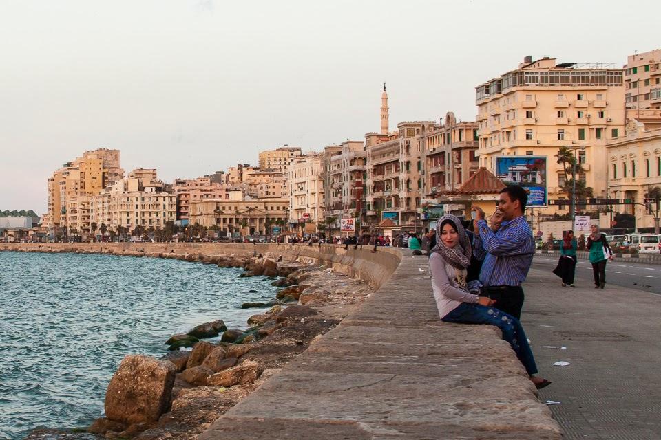 a corniche Alexandriában