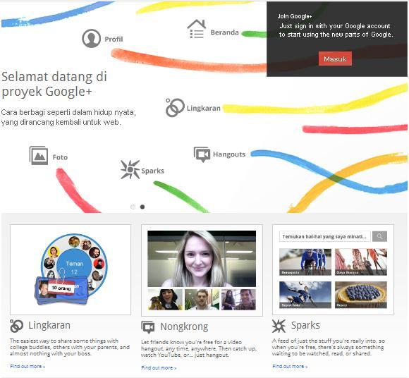 jejaring sosial google+