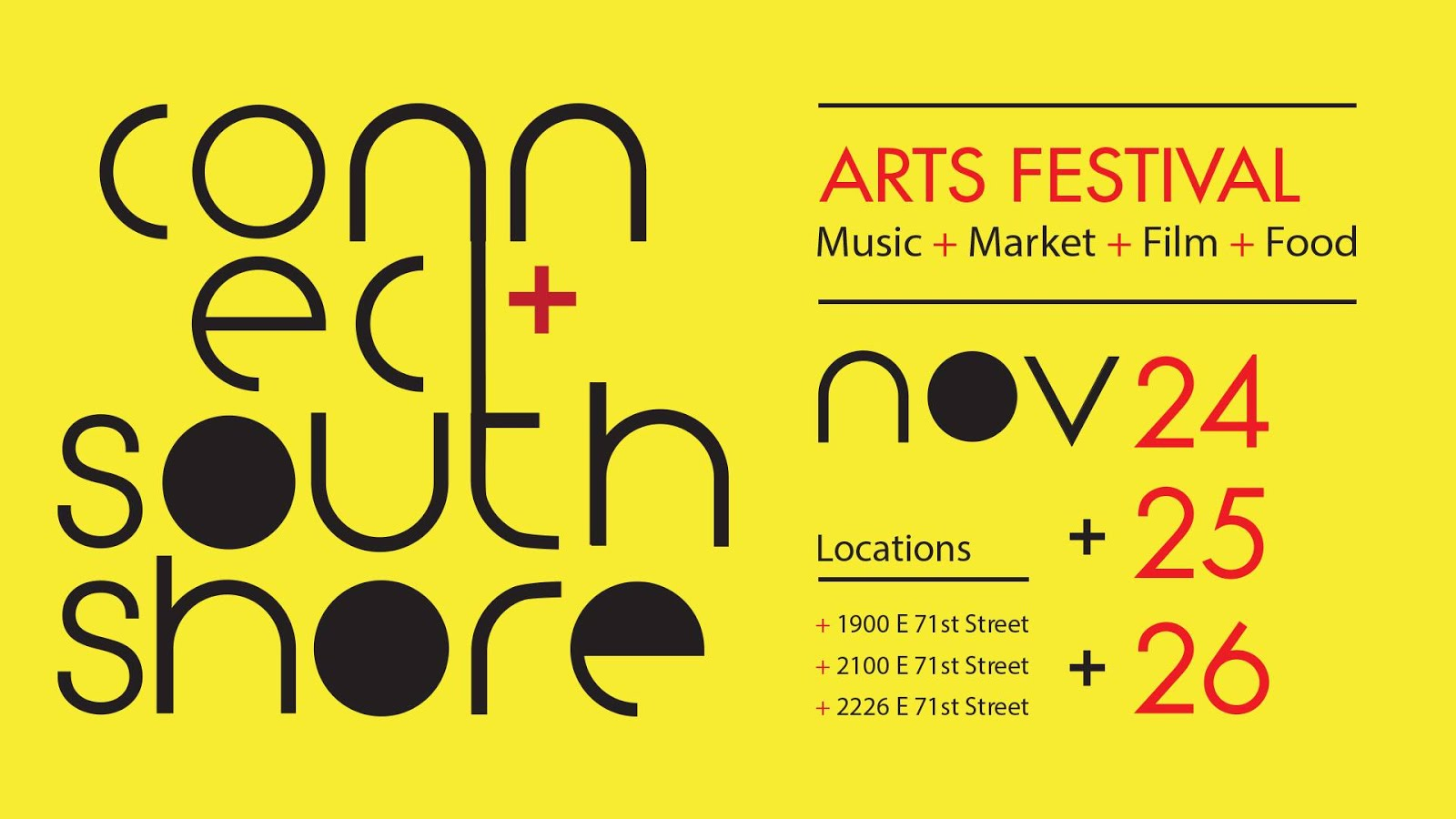 November 24, 25, 26: Connect South Shore Arts Festival