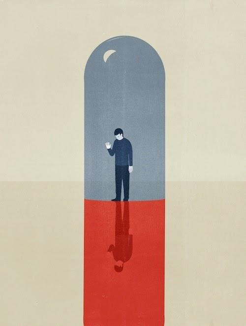 Ilustración minimalista de Shout sobre el borderline