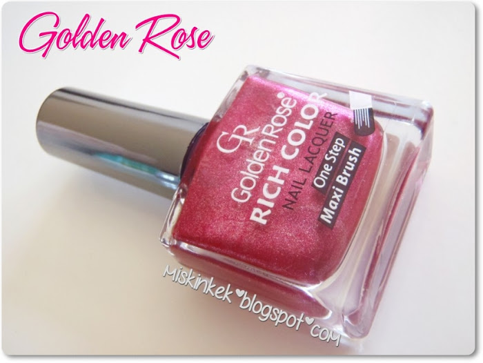 golden rose rich color nail polish