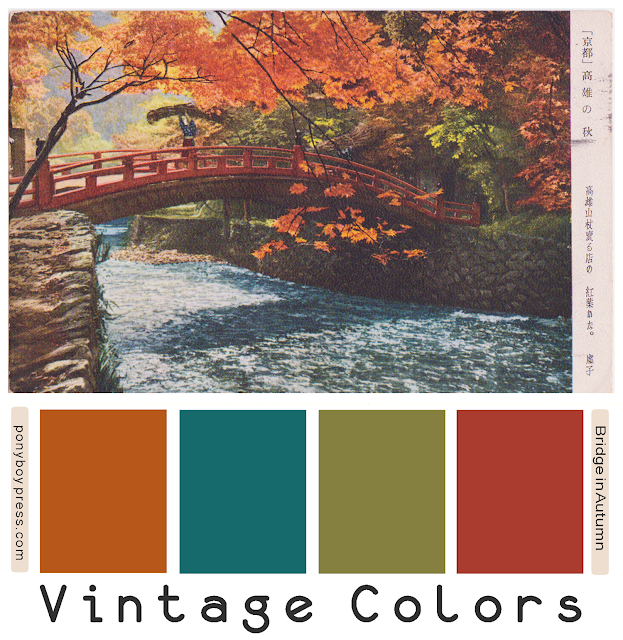 Bridge in Autumn Vintage Color Palettes on Ponyboy Press blog