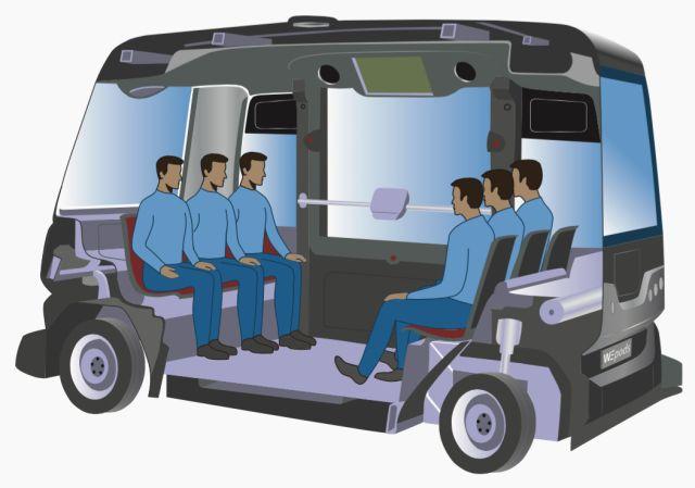 Gambar bus wepod EZ10 Bagian Dalam Full Ilustrasi