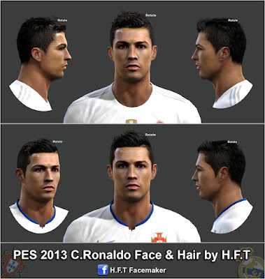 PES 2013 C.Ronaldo new face & hair by H.F.T