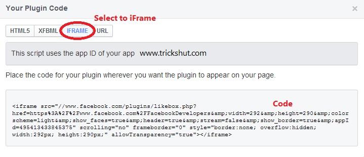 IFrame Plugin Code