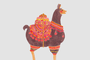 The Lovely Llama Illustration by Haidi Shabrina