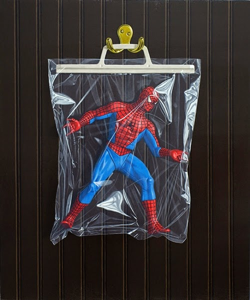 12-Peter-Parker-Spider-man-Simon-Monk-Bagged-Superheroes-in-Painting-www-designstack-co