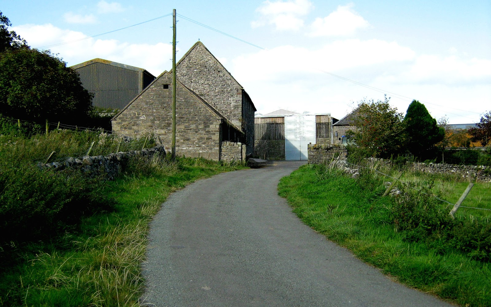 Road in the Peak District near Calton