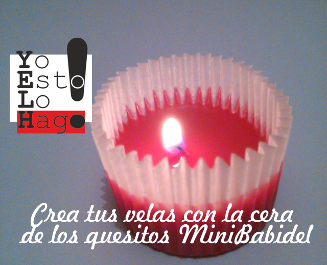 Diy - Crea tus velas reciclando cera de quesitos Mini Babydel