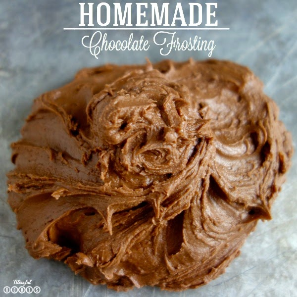 Favorite Homemade Chocolate Frosting @ Blissful Roots