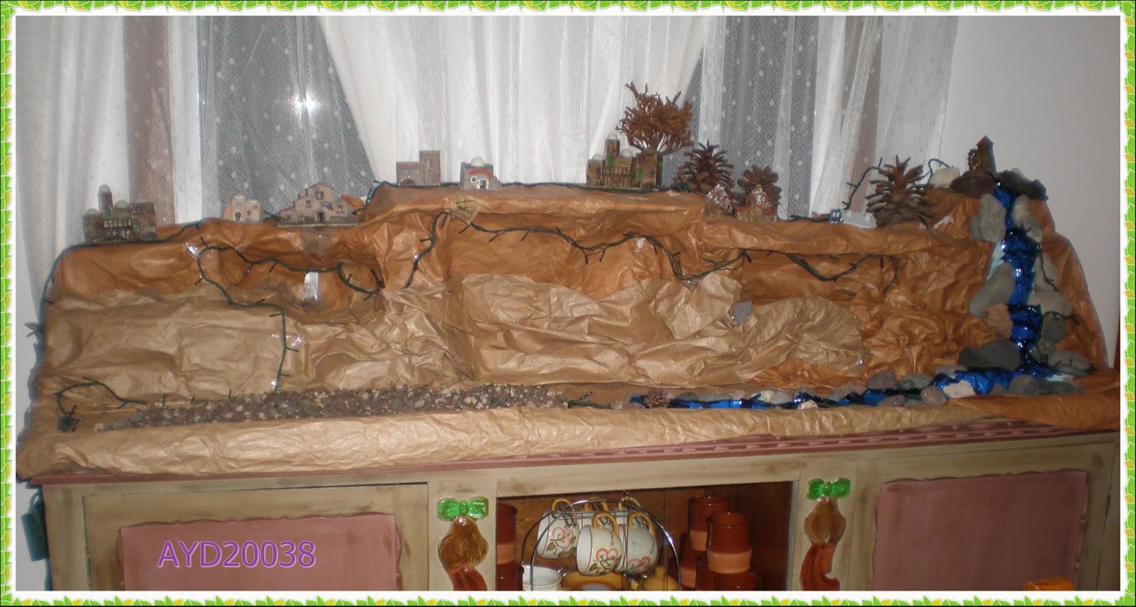Las manualidades de ayd20038 ya llega la navidad for Como decorar un belen de navidad