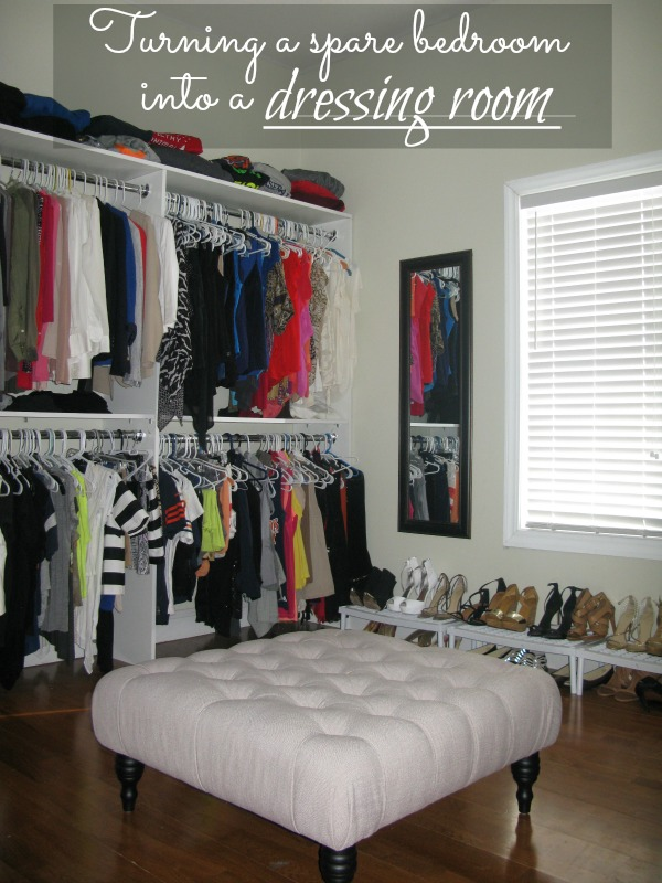 Turning a spare bedroom into a dressing room love and for Bedroom dressing room designs