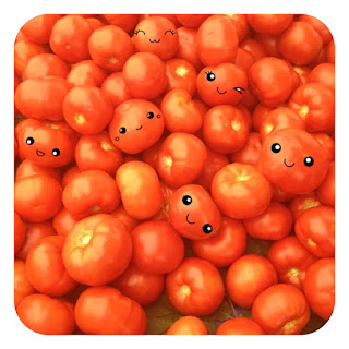 Mutlu organik domatesler