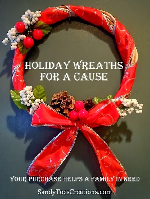 Sandy Toes Creations Holiday Wreaths for a Cause