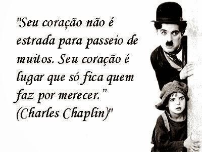 mensagem Charles Chaplin