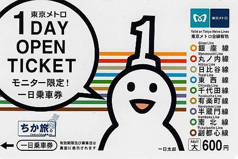 東京メトロ モニター限定1日乗車券