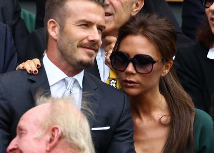 David & Victoria Beckham Cheer On Andy Murray at Wimbledon Final » Gossip | David Beckham