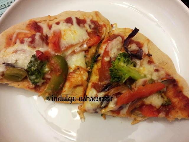 Homemade Roasted veggie PIzza