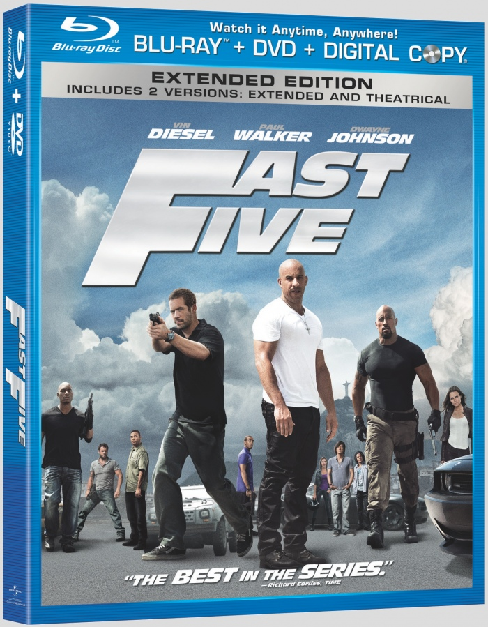 fast five blu ray dvd cover art details and release date. Black Bedroom Furniture Sets. Home Design Ideas