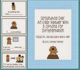 https://www.teacherspayteachers.com/Product/Groundhog-Day-An-Easy-Reader-with-3-Options-for-Word-Work-Differentiation-525259