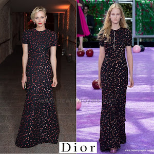 Princess Charlene of Monaco Style Christian Dior Fall 2015 couture Collection