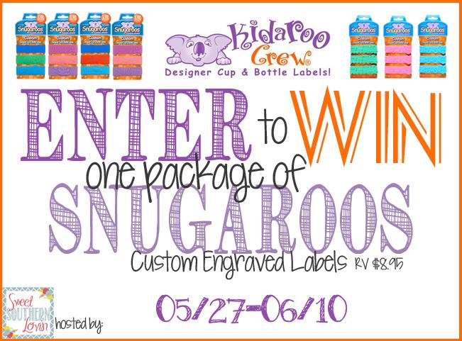 Kidaroo Crew LLC Snuagroos Custom Engraved Labels Giveaway