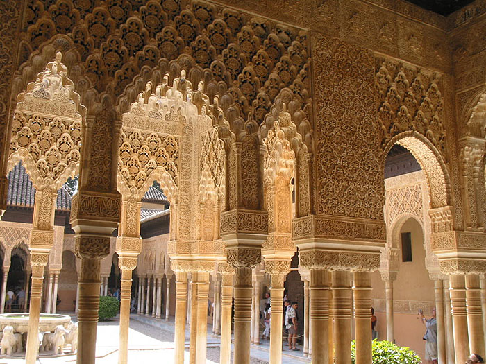 Traveler guide alhambra for Architecture arabe