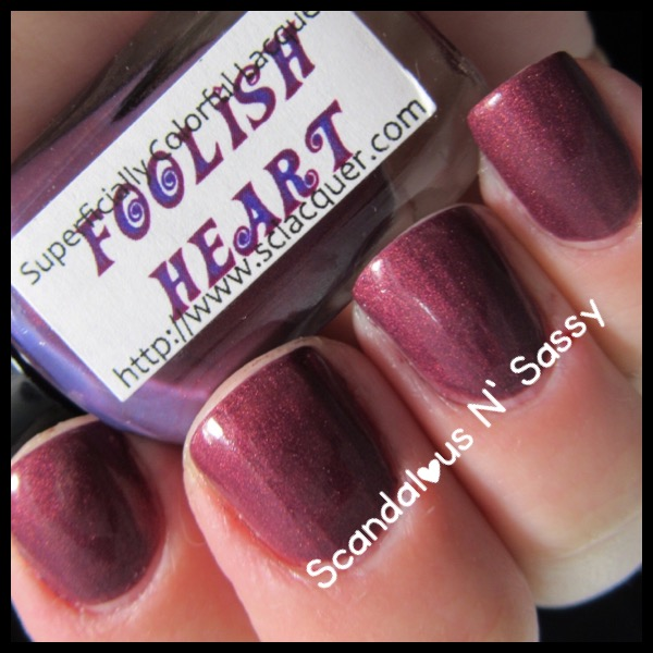 Superficially Colorful Lacquer Foolish Heart thermal cold state