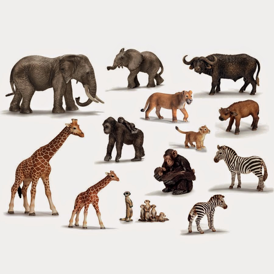 Toys From Africa : Animals toys schleich