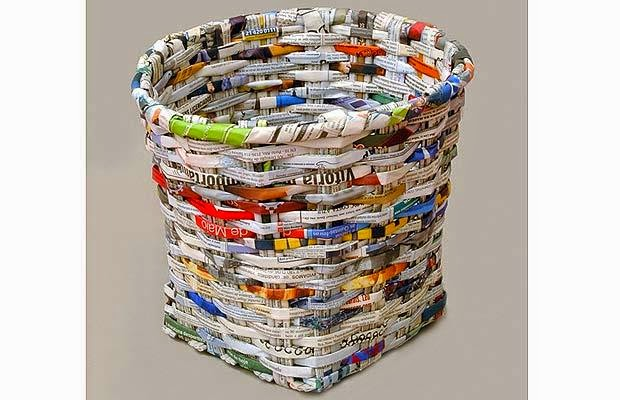 keranjang daur ulang majalah bekas