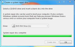 system restore finish