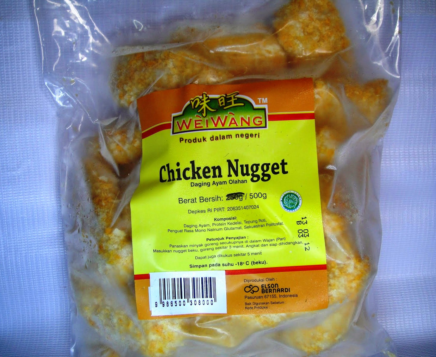 Weiwang Armera Food Indonesia Belfood Nugget Stick 500gr Chicken 250g 500g