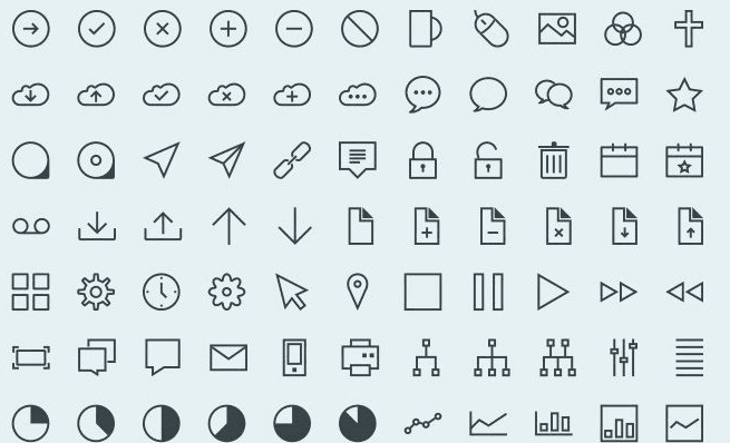 Vector Stroke Icons (Ai, Eps, Png)