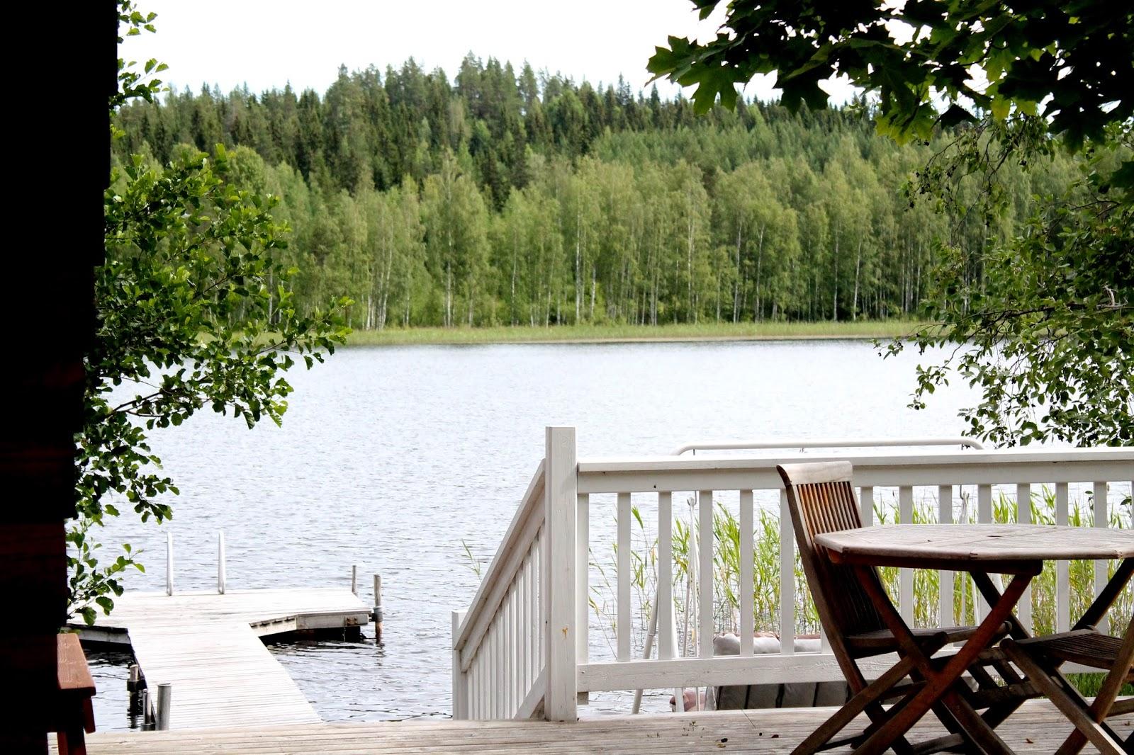 view on lake Saimaa Finland