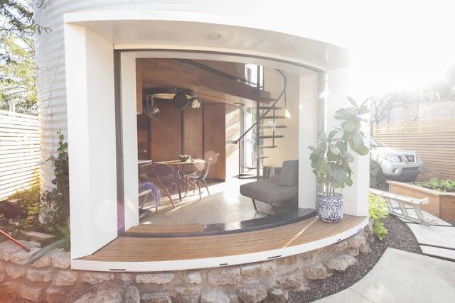 Statt Neubau Umbau eines ausrangierten Silos zum kleinen, aber feinen Haus für Zwei – Einrichten im minimalistischen Design ist zwingend