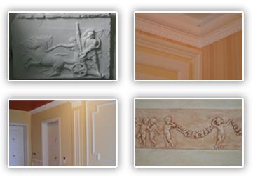 Stucchi e restauro cornici in gesso - Decorazioni in gesso ...