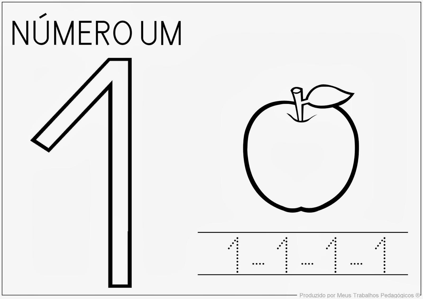 Well-known Meus Trabalhos Pedagógicos ®: Números de 1 a 5 - para maternal KS53