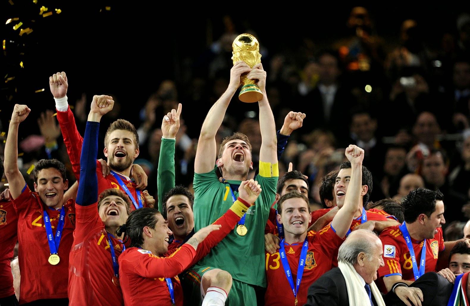 La selección española de fútbol campeona del mundo en Sudáfrica
