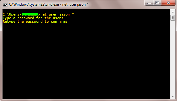 how to run net user command
