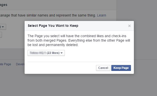 Pertahankan Halaman Facebook