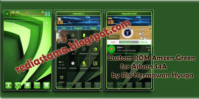 Custom ROM Amzen Green for Advan S4A