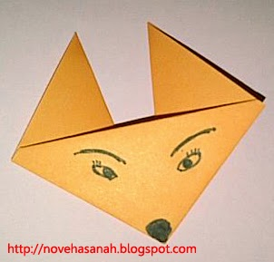 origami wajah serigala