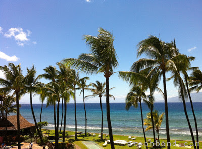 View from Papakea Resort in West Maui