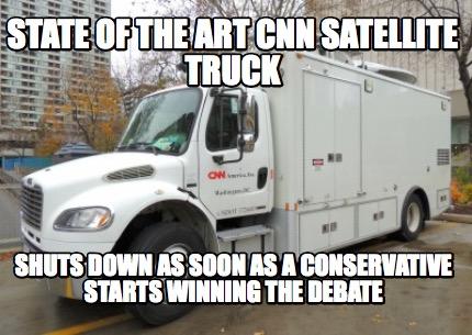 Cnn S New State Of The Art Satellite Truck Tell Politicians