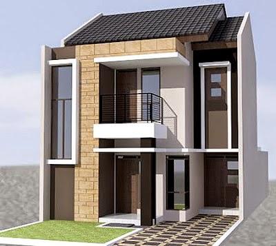 Desain Rumah Minimalis 2 Lantai Type 45