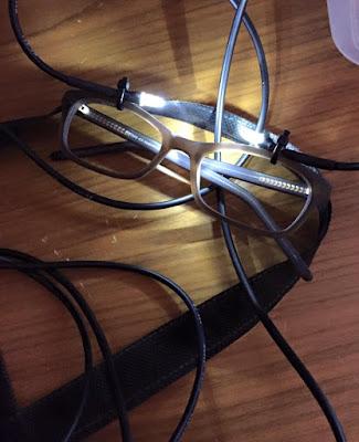 imagen de gafas con luz