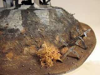 Completed Bunker for Warhammer 40k - Back Door detail