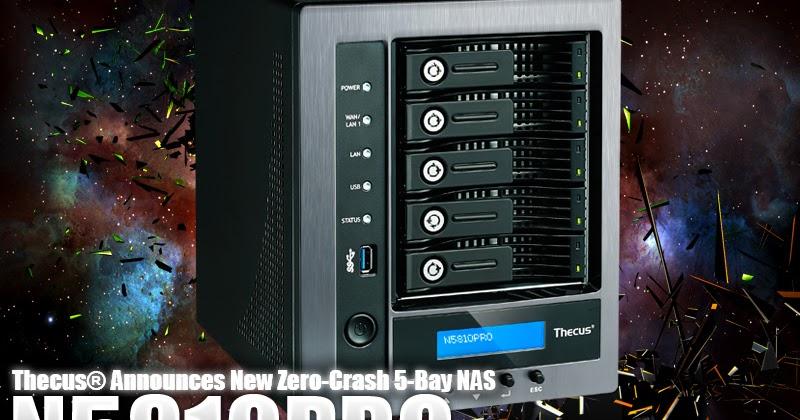 Thecus® Announces New Zero-Crash 5-Bay NAS, the N5810PRO - T