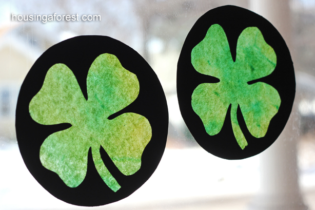 http://www.housingaforest.com/stained-glass-shamrock-craft/